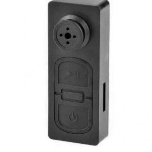 Button pinhole camera for covert camera recording