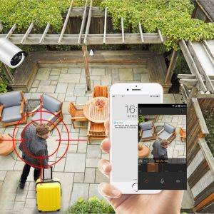 Real time camera view and alarm notification