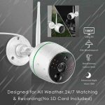 night vision and rainproof Wifi security camera