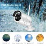 Waterproof exterior wireless cctv camera